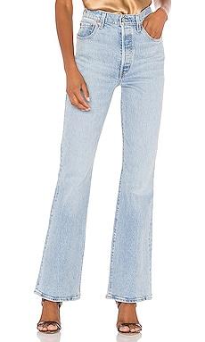 Широкие джинсы ribcage - LEVI'S Широкие и расклешенные фото