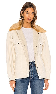 Oversized Corduroy Faux Fur Trucker Jacket LEVI'S $168