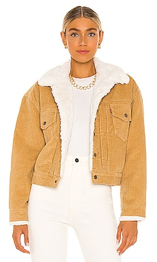 New Heritage Cord Faux Fur Trucker Jacket LEVI'S $128