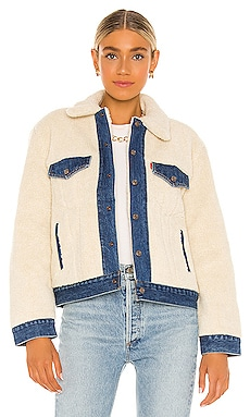 Ex Bf Pieced Sherpa Trucker Jacket LEVI'S $128