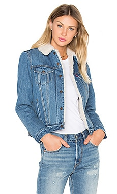 Authentic Faux Sherpa Trucker Jacket in Movin' & Shakin'