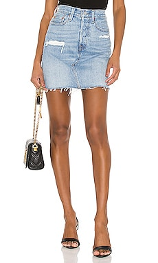 FALDA DENIM DECONSTRUCTED LEVI'S $56