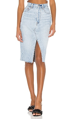 Deconstructed Midi Skirt LEVI'S $90