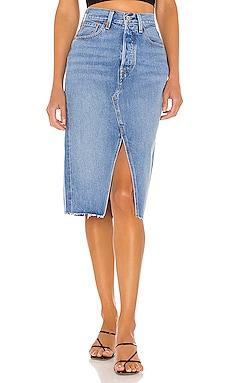 Deconstructed Split Skirt LEVI'S $80