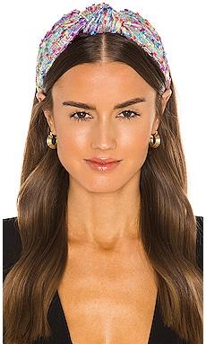 Shimmer Yarn Knotted Headband Lele Sadoughi $75 BEST SELLER