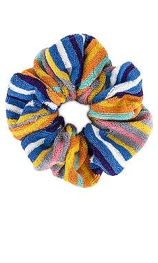 Striped Terry Cloth Oversized Scrunchie Lele Sadoughi $28