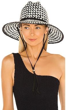 Straw Checkered Hat Lele Sadoughi $125