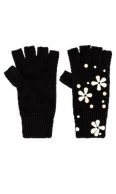 Pearl Snowflake Fingerless Knit Gloves Lele Sadoughi $95