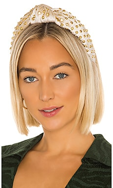 Corduroy Crystal Knotted Headband Lele Sadoughi $170