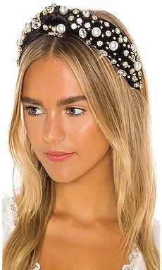 Oversized Pearl & Crystal Headband Lele Sadoughi $195 NEW