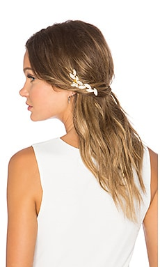 LELET NY Hanging Foliage Hair Comb in Gold & Silver