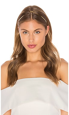 LELET NY Exes Glossy Headband in Antique Gold