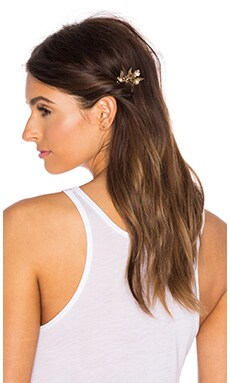 LELET NY Mila Flower Comb in Antique Gold
