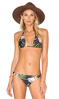 Lenny Niemeyer Long Halter Bikini Top in Tulips