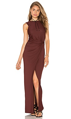 Lenny Niemeyer Twist Maxi Dress in Coffee