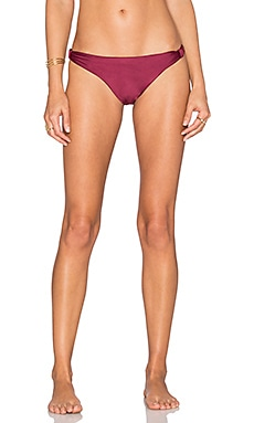 Lenny Niemeyer Adjustable European Bikini Bottom in Burgundy