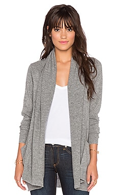 LEO & SAGE Open Front Pocket Cardigan in Flannel