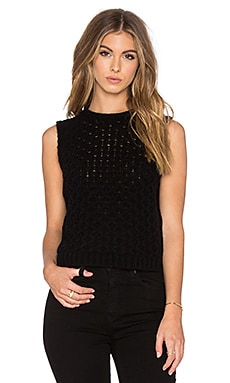 LEO & SAGE Honeycomb Sweater in Black