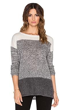 LEO & SAGE Ombre Boatneck Sweater in Granite Fade