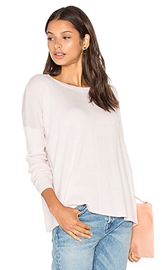 LEO & SAGE Oversized Crew Neck Sweater in Petal
