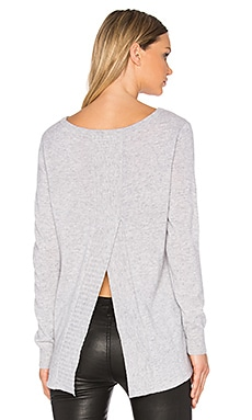 Y Back Sweater in Ash