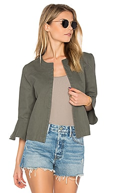 Ruffle Sleeve Jacket in Sahara