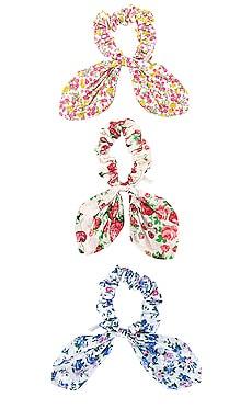 Pebble Road Printed Cotton Scrunchie Set LoveShackFancy $45