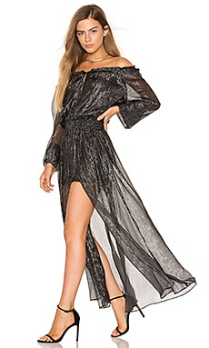 Smocked Metallic Dress