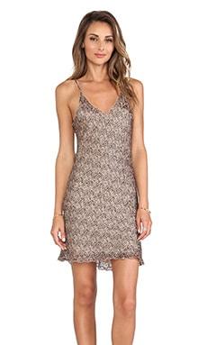 LoveShackFancy Baby Leopard Burnout Slip Mini Dress in Beige Multi