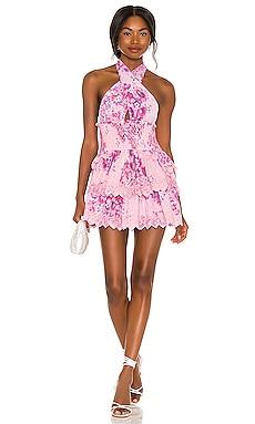 Deanna Halter Dress LoveShackFancy $425