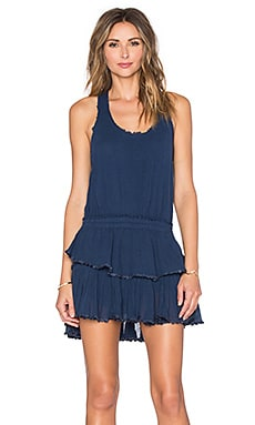 LoveShackFancy Ruffle Mini Dress in Royal