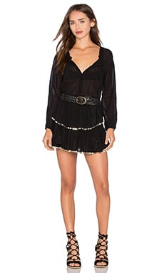 LoveShackFancy Popover Dress in Black