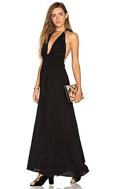 String Love Maxi Dress en Noir