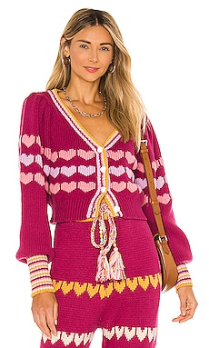 Buena Cropped Cardigan LoveShackFancy $445 NEW