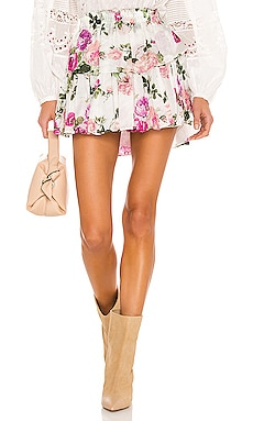 Ruffle Mini Skirt LoveShackFancy $295 NEW