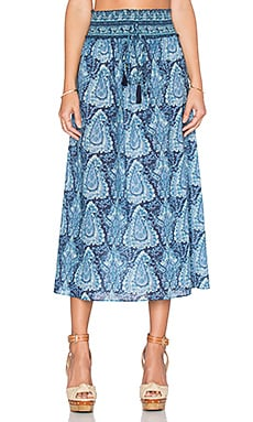 LoveShackFancy Ali Skirt in Blue