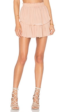LoveShackFancy Ruffle Mini Skirt in Ballet Slipper