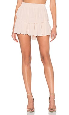 LoveShackFancy Ruffle Mini Skirt in Powder Pink