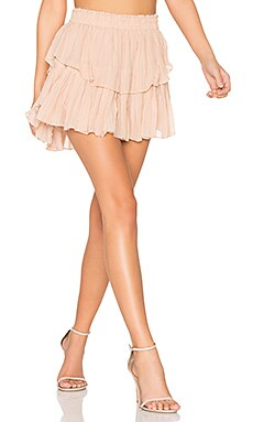 Ruffle Mini Skirt in French Rose