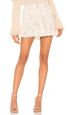 Ruffle Mini Skirt LoveShackFancy $295