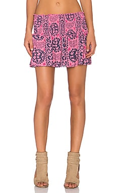 LoveShackFancy Beach Mini Skirt in Bright Pink