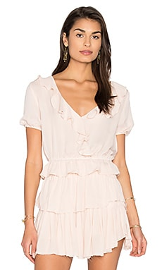 Zoe Ruffle Top in Powder Pink