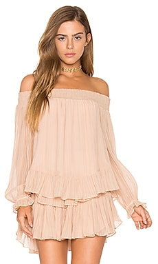 Smocked Peplum Top in French Rose