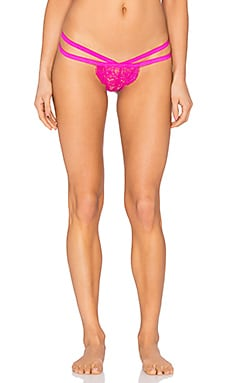 Les Coquines Lili Eyelash Thong in Hibiscus