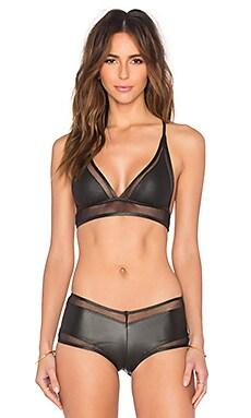Les Coquines Ava Mesh Bikini Top in Femme Fatale