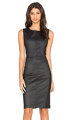 Level 99 Scarlet Zip Back Dress in Forever Black