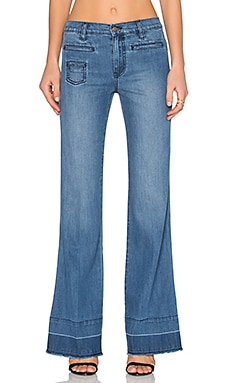 Level 99 Leandra High Waist Trouser in Wrangler