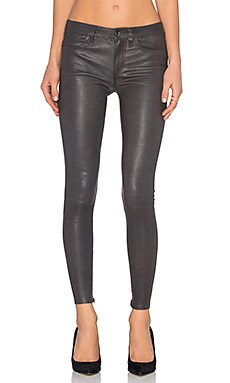 Level 99 Leather Skinny in Charcoal