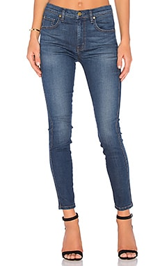 Jane High Rise Slim Skinny en Noisette