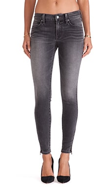 Level 99 Janice Ultra Skinny with Zippers in Aschen